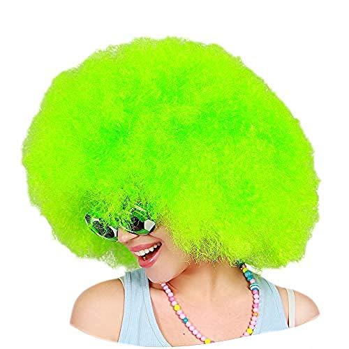 Peluca De Payaso Arcoiris, Peluca Corta Y Rizada Afro Peluca Para Fiesta De Halloween, Navidad, Peluca De Payaso De Cosplay Colorido Verde