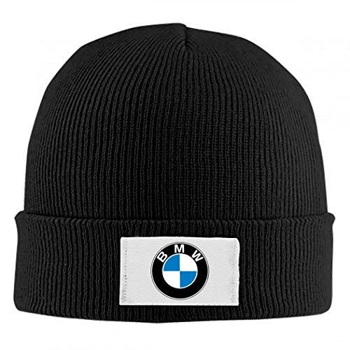 hbjhikuo9u B.M.W Logo Cap Unisex Warm Winter Wolle Mütze Strick Beanie Caps Schwarz