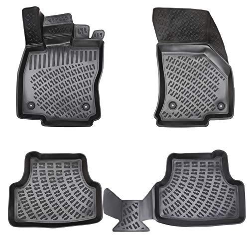 Elmasline Design 3D Gummimatten Set für SEAT Leon III Baujahr 2012-2020 | Extra hoher 5cm Rand