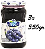 3x Santa Rosa Mermelada de Arándanos 350g. 100% Italiana