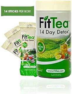 FIT TEA 14 STICKS PER BOX - Detox tea, All naturall Ingredients, Sealed, NON GMO