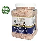 Fierté de l'Inde Sel de bain rose de l'Himalaya enrichi w / huile de menthe poivrée et de minéraux naturels 84+, 2,5 livres (40 onces) pot