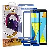 Guran [3 Paquete Protector de Pantalla para Honor 7X Smartphone Cobertura Completa Protección 9H Dureza Alta Definicion Vidrio Templado Película - Azul Oscuro