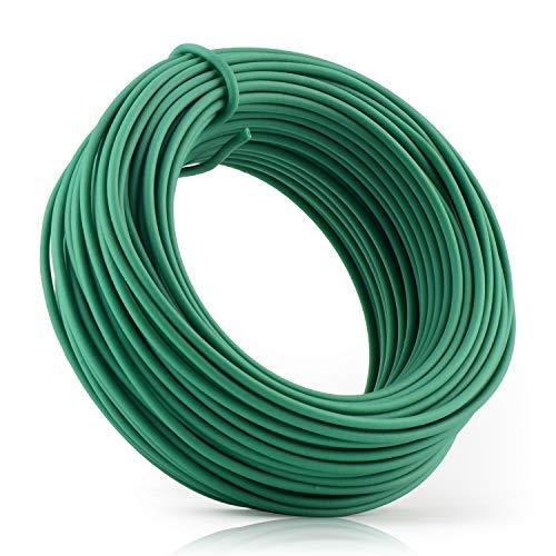 YDSL 66 Feet Soft Plant Tie, Green Twist Garden Ties for Plants, Office Organization and Home(Diameter - 2.5MM)