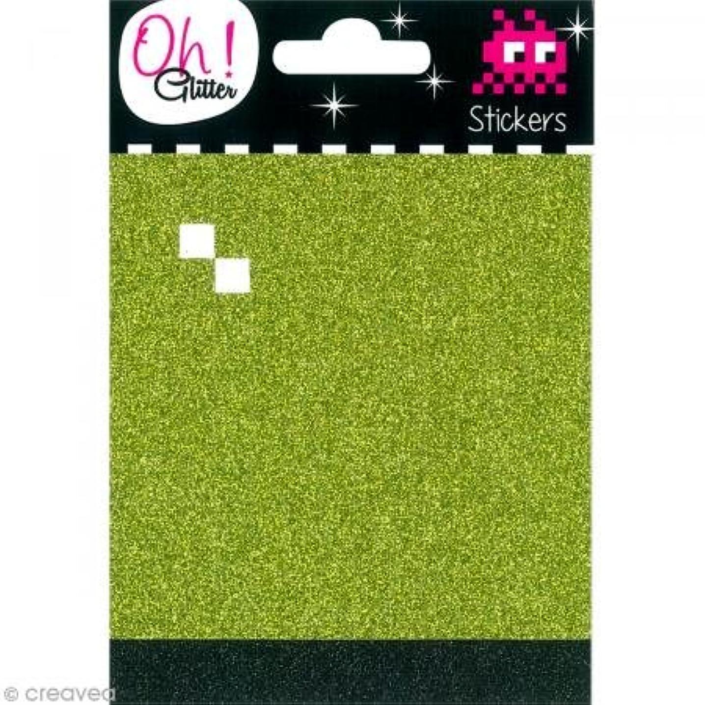 Oh ! Glitter Glitter Stickers, Paper, vert-Noir 10?x 14.5?x 0.2?cm