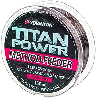 Robinson 150m Titan Power Method Feeder bruine snel zinkende vislijn van Ø 0,175 mm tot Ø0,345 verkrijgbaarmm