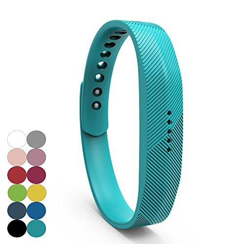iFeeker Für Fitbit Flex 2 Zubehör Ersatz Armband Classic Weiche Silikon Metall Schließe Uhr Buckle Design Armband Halter Tasche für 2016 Fitbit Flex 2 Fitness Activity Tracker (Klein oder Groß)