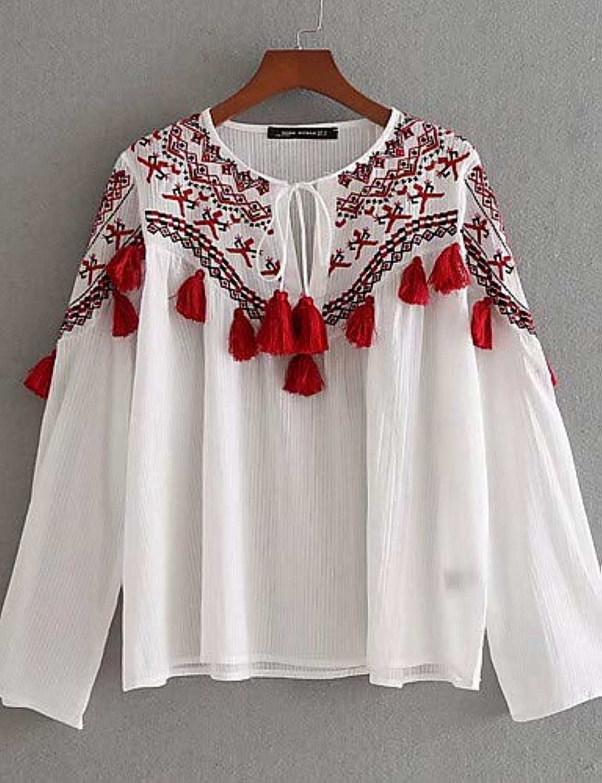 Women's Shirt  Floral Round Neck