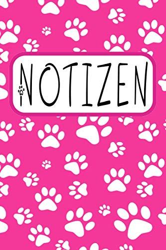 Notizen: Pfoten Notizbuch Hunde und Katzen - liniertes Pfoten Notizbuch - 120 linierte Seiten, Ideen und Gedanken festzuhalten | ca. DINA5 | Geschenk für Hunde-oder Katzenfans