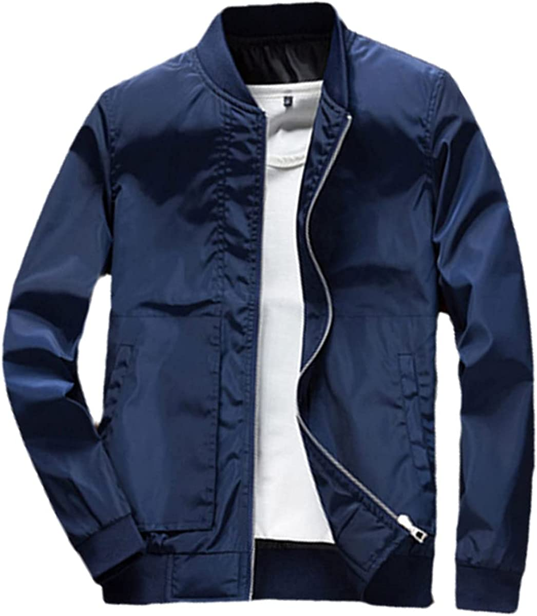 Men's Bomber Jacket Zipper Fashion Male Streetwear Hip-Hop Slim Fit Bomber Jacket Baseball Jacket