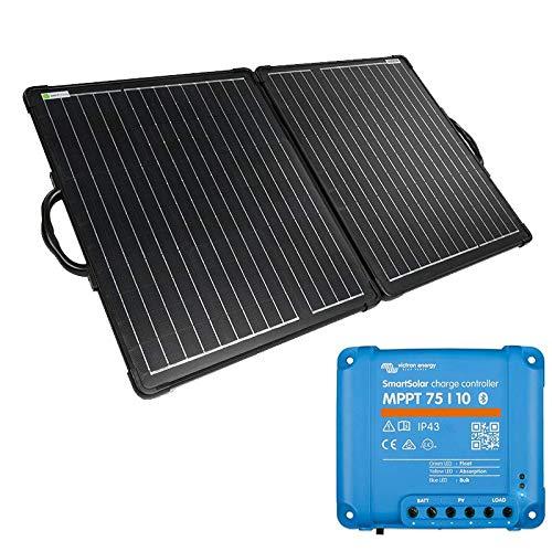 WATTSTUNDE Solarkoffer ULTRA LIGHT WSSUL - stabiles, faltbares Solarmodul in leichtbauweise (120W mit Victron 75/10)