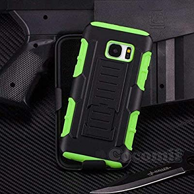 Cocomii Robot Belt Clip Holster Galaxy S7 Edge Case, Slim Thin Matte Kickstand Swivel Belt Clip Holster Reinforced Drop Protection Fashion Phone Case Bumper Cover for Samsung Galaxy S7 Edge (Green)
