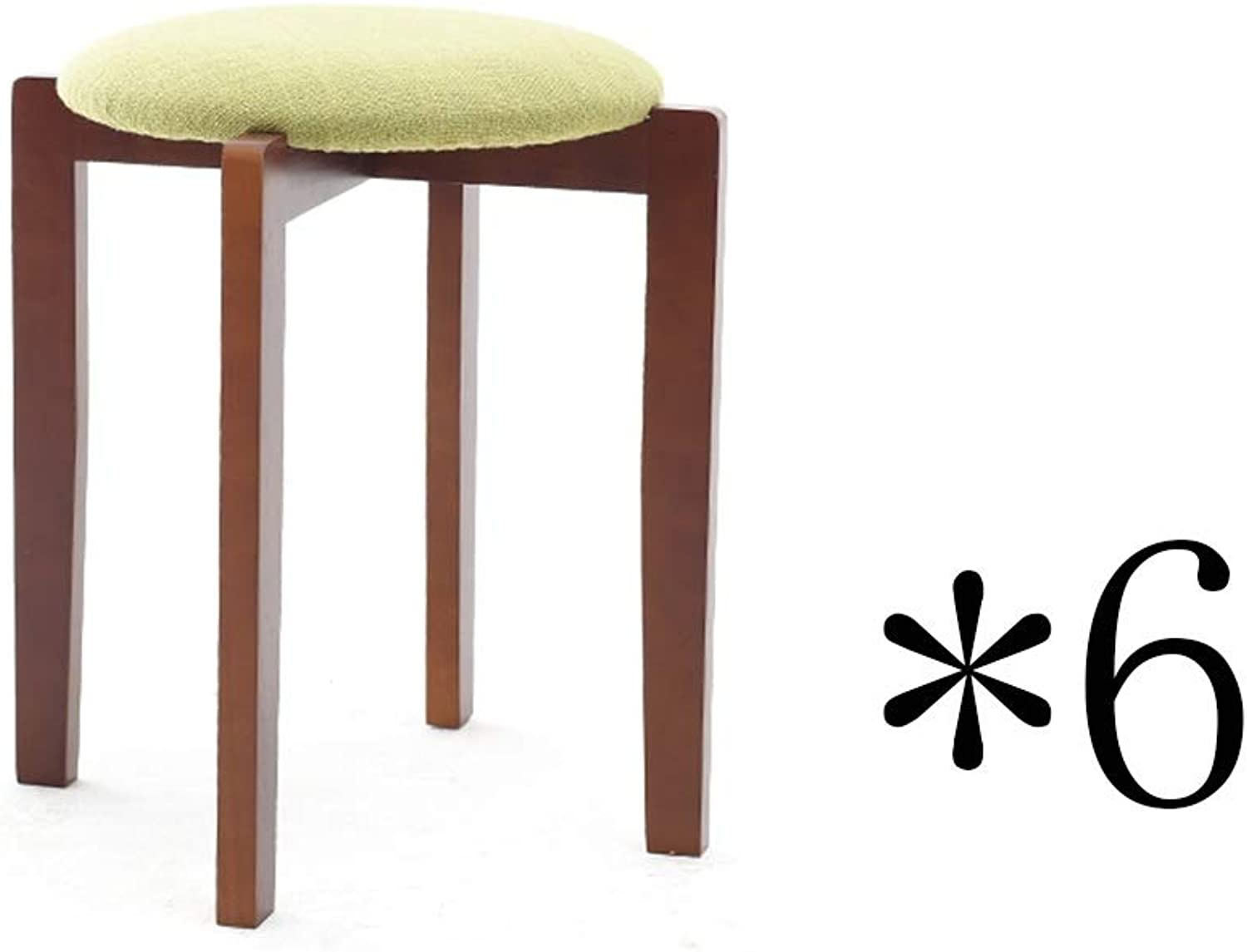 ZHANGQIANG Housewares Rubberwood Round Stool, 40  40  47cm (color   Walnut color-6, Size   A)