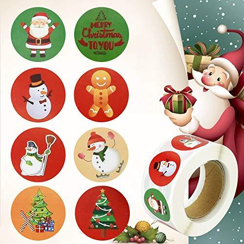Etiquetas Adhesivas Navidad 500 Marca AFASOES