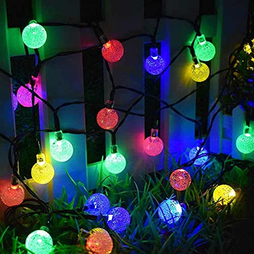 VQAGDV Festoon Lights 30 LED Solar String Lights Has Multiple Uses Convenient Durable And Harmless Outdoor Crystal Ball Lighting For Christmas Trees Garden Patio Wedding And Holiday Decorations