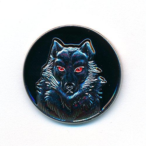 hegibaer Wolf Raubtier Mystik Fantasie Gothic Edel Metall Button Pin Anstecker 0159
