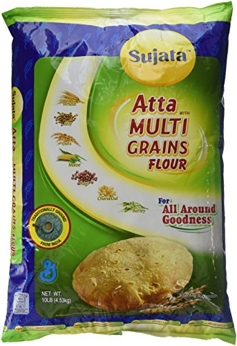Sujata, Atta - MultiGrains Flour, 10 Pound(LB)