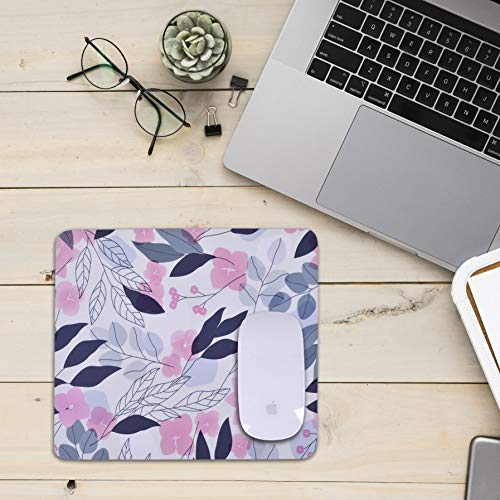 Unique Rectangle Mouse Pad with Non Slip Rubber Base, Comfortable Computer Mouse Pad for Laptop, Pain Relief Mousepad for Office & Home, 8 x 7 inches (Cherry Blossom) Photo #6