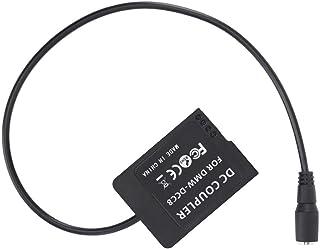 Elerose ダミーバッテリーブラック、DMW-DCC8フルデコードダミーバッテリーDCインターフェイスバッテリーボックス、DMC-GH2 GH2K GH2S FZ200 FZ300 FZ1000 GX8 G7 G6用ストレートワイヤー付き