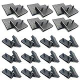 12 soportes para listones de cama, 24 piezas para soporte de listones laterales (63 mm x 9 mm interior), kit de soportes de láminas de plástico de repuesto, para camas individuales y dobles