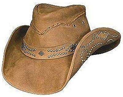 Bullhide Women's Hidden Pleasure Leather Hat Honey Large