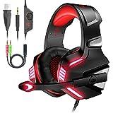 VersionTECH. Auriculares Gaming Cascos PS4 con Micrófono Plegable, Sonido...