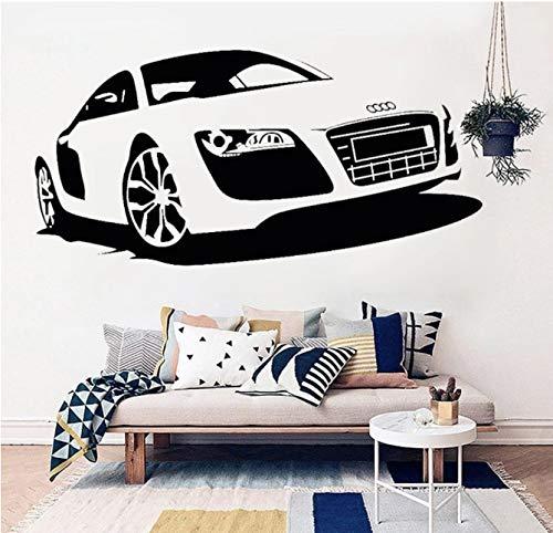 xingzhi Audi Rennwagen Wandaufkleber Vinyl Wohnkultur Automotive Auto Wandkunst Wandhaupt Jungen Raumdekoration Auto Shop Poster 57 * 117 cm