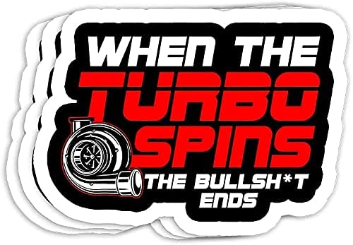 Funny Turbo Spins for Men Special price Decorations Stickers Gift - Cheap super special price Decals