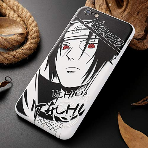 Naruto Sasuke Kakashi - Custodia per iPhone Xs Max XR Itachi Minato, in morbido silicone, per iPhone X XS XR 6 6S 7 8 Plus Luxury Cover (6, iPhone 8 Plus)
