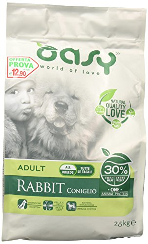 OASY Ein Protein trocken Hund Kaninchen 2.5kg - Hundetrockenfutter mono Protein