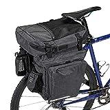 WOTOW Bolsa de Maletero de Bicicleta, Maletas de Almacenamiento de Bicicleta 36L 3 en 1 Paquete de Transporte del Asiento Trasero multifunción Clip de luz Trasera para Ciclismo Senderismo Viajar