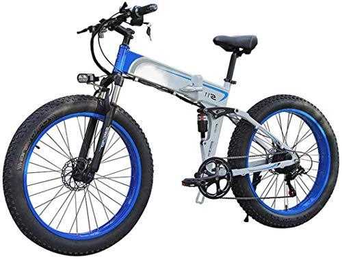 Ebikes Electric Bicycle Ebikes Folding Moutain Bike Lightweight 350W 48V, Mens Mountain Mountain Dobling E-Bike 7 Speed System, con neumático de 26 pulgadas y pantalla LCD ZDWN ( Color : Blue )