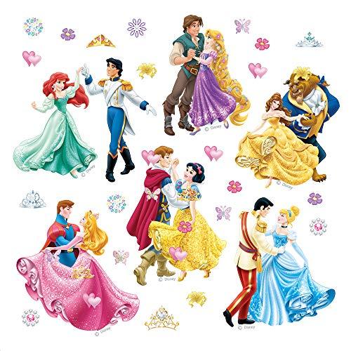 AG Design Disney prinsessen kinderkamer muursticker, PVC-folie (ftalaat-free), meerkleurig, 30 x 30 cm
