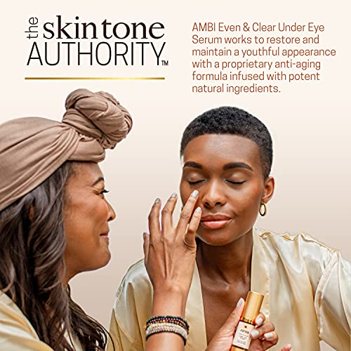 AMBI Even & Clear Under Eye Serum   Anti-aging Formula with Peptides   Reduces Fine Lines, Wrinkles, Under Eye Bags, and Crow's Feet   Restores Skin Elasticity   0.5 Oz