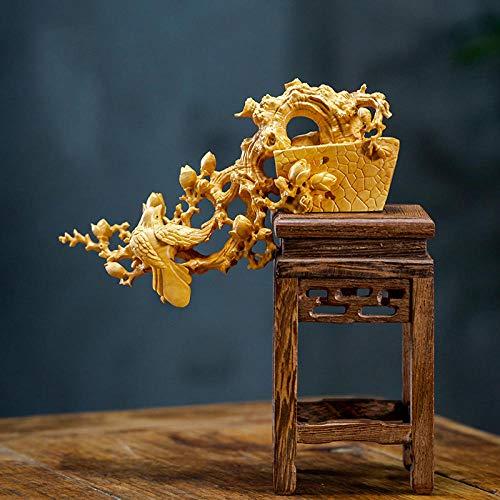 LOSAYM Esculturas De Cabeza Esculturas Escultura Estatua Pájaro Animal Tallado En Madera Muebles Decoración del Hogar Tallado Tallado En Madera Decoración (No Incluye Banco)