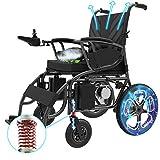 Silla De Ruedas Inteligente Silla De Ruedas Eléctrica Power Chair Plegable Wheelchair Ligera De La Aleación De Aluminio Silla,conduzca Con Potencia O Use Como Silla De Ruedas Manual