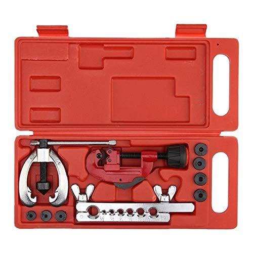 LLD Cuivre De Frein De Réparation De Tuyau De Carburant Élargissement Matrices Ensemble D'outils Kit De Pince Coupe Tube, Rouge