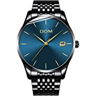 Men's Luxury Watches Ultra Thin Wrist Watch for Men Fashion Waterproof Analog Date Watch with...
