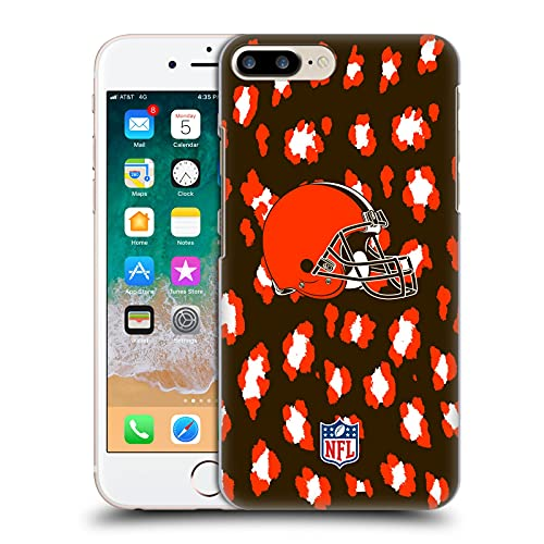 Head Case Designs Licenza Ufficiale NFL Leopardo Stampa Animale Cleveland Brown Art Cover Dura per Parte Posteriore Compatibile con Apple iPhone 7 Plus/iPhone 8 Plus