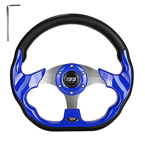 10L0L Universal Golf Cart Steering Wheel for EZGO, Club Car, Yamaha - Blue