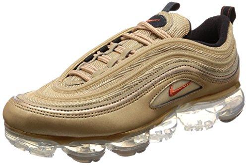 Nike Schuhe Frau Turnschuhe Air Max Vapormax 97 in Gold Stoff AO4542-902