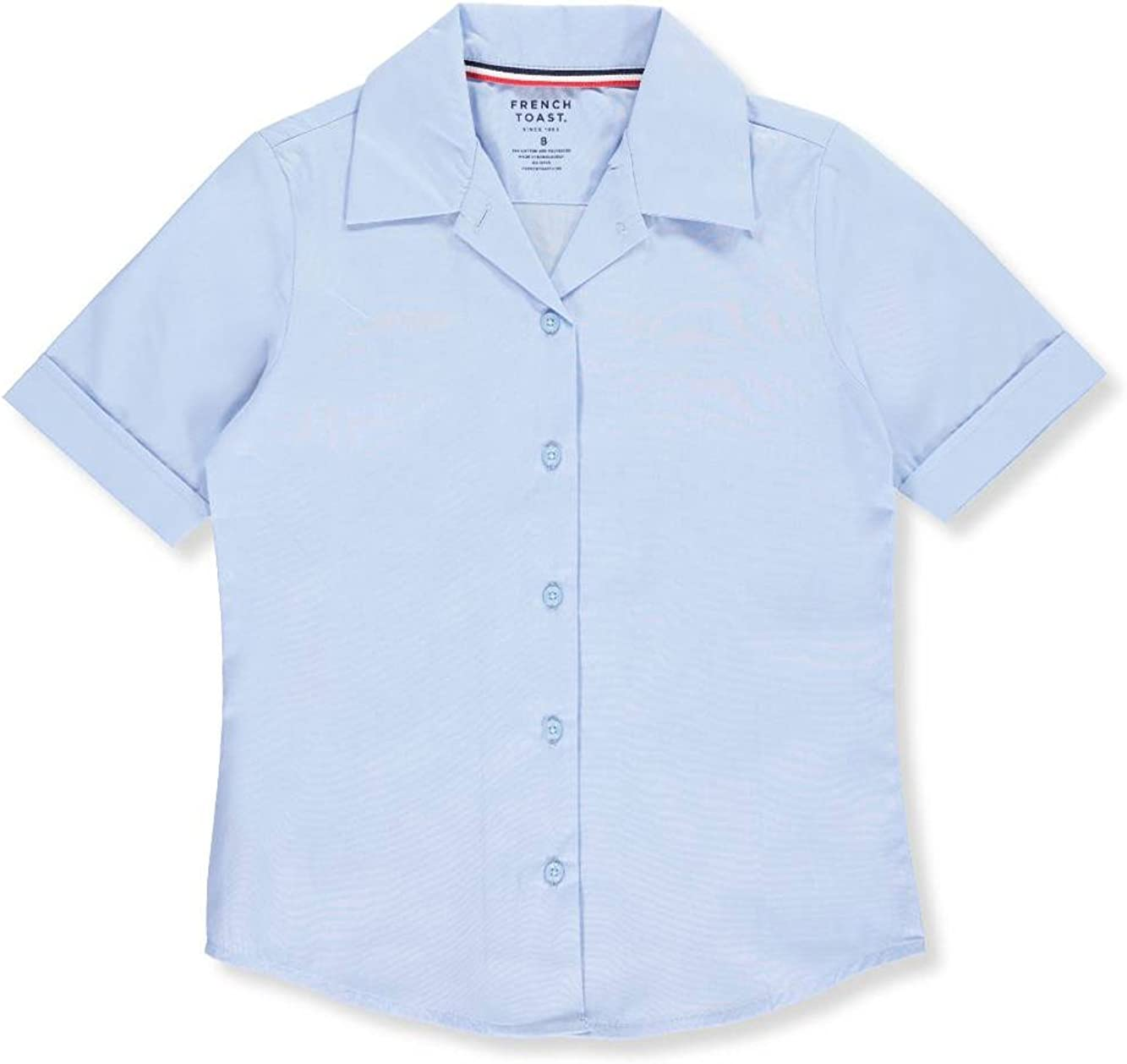 French Toast Big Girls' S/S Notched Collar Blouse