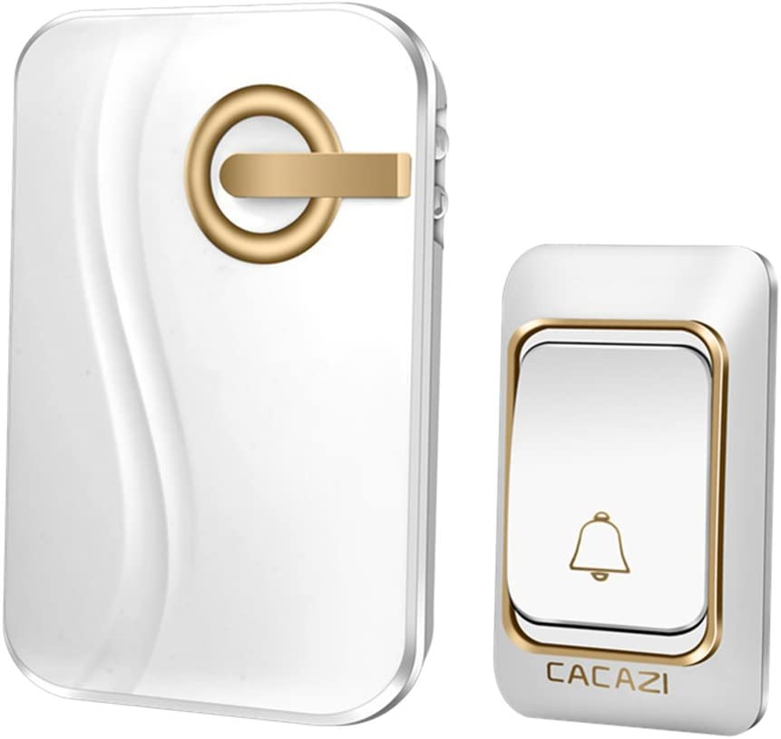 Homyl 200m Wireless Cordless Doorbell Push Year-end annual account Button Door 1 Chime Cash special price