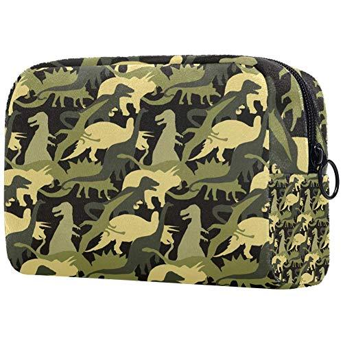 Sac de maquillage portable motif armée camouflage dinosaure sac de maquillage imprimé sac cosmétique sac de voyage pour femme sac cosmétique sac de voyage