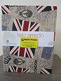 Pago Poco - Manta decorativa para cama de matrimonio, 100% algodón, diseño de Londres !