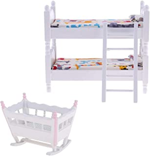 Melody Jane Dolls House Miniature Nursery Accessory Set Baby Girl Boy Bibs Bottles Nappy Box