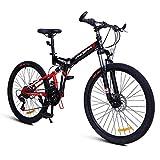 Vélos enfants VTT Pliant/Extérieur Hommes De 24 Pouces Et Les Femmes De Vélo Adulte/Étudiant Vélo Pédale / (Color : Red, Size : 24inches)