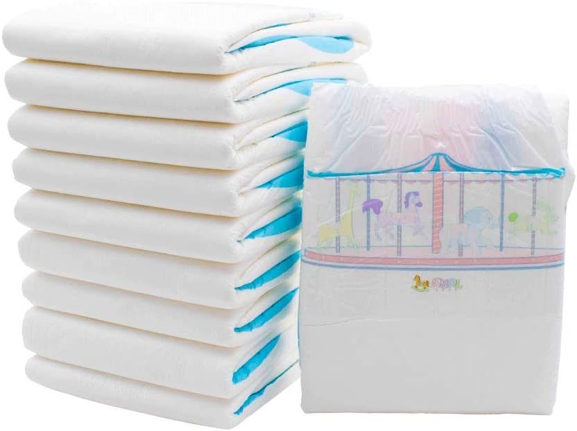 The ABDL Shop- Carousel Diapers 4pk -Large