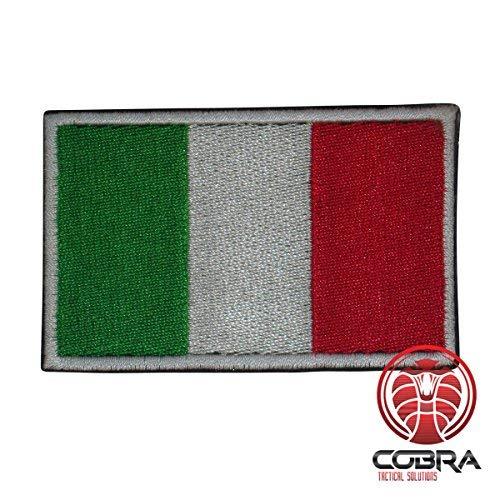 Cobra Tactical Solutions Flagge Italien Military Besticktes Patch mit Klettverschluss für Airsoft Cosplay Paintball für Taktische Kleidung Rucksack