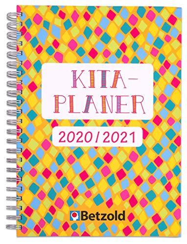 Betzold 758673 - Design Kita-Planer 2020/2021 Ringbuch, DIN A4 Plus - Kalender für Erzieher/innen Organizer Kindergarten